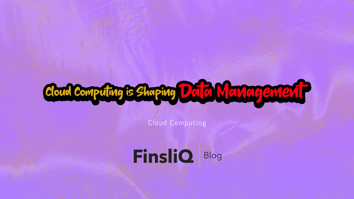 Cloud Computing is Shaping Data Management