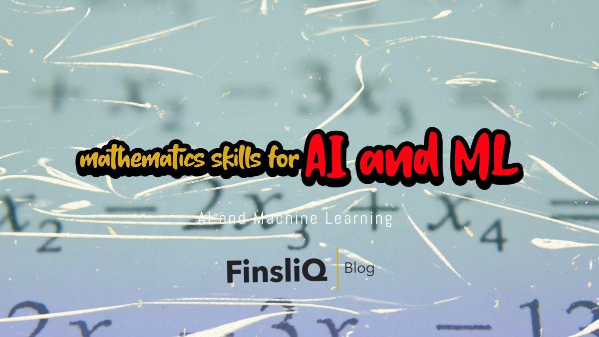 Maths skills for AI and ML